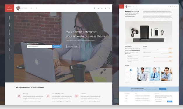 30+ Premium Business Themes for WordPress