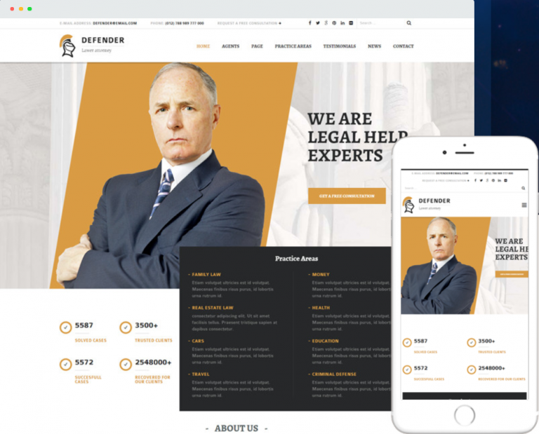 DEFENDER – Premium WP Theme for Attorney/Law Blogs