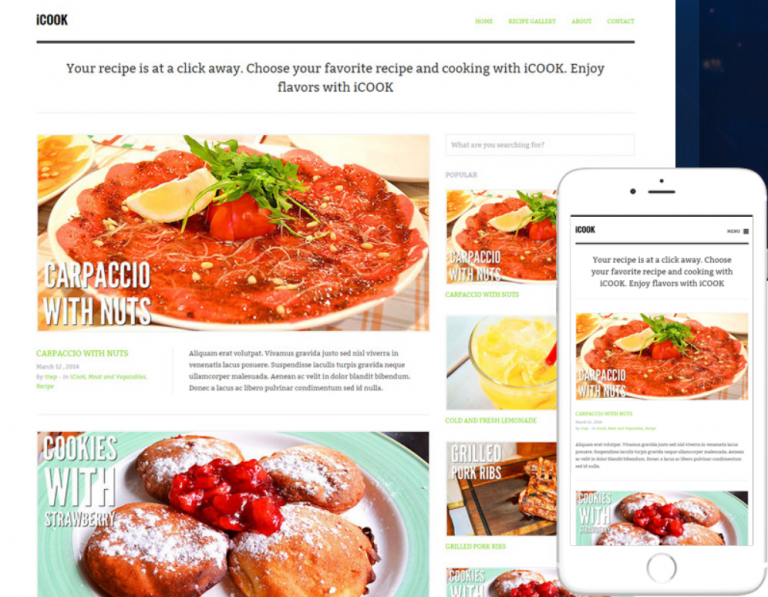 6 Premium Themes for WP Recipe Blogs